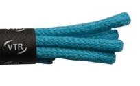 Šnúrky bavlnené guľaté tenké 45 cm tyrkysová