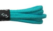 Šnúrky bavlnené guľaté tenké 60 cm tyrkysová