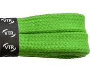 Šnúrky bavlnené ploché 120 cm zelená