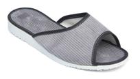 Manžestrové papuče dámske s otvorenou špičkou 6-20086