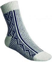 Ponožky Gultio art. 10 - zimné nórsky vzor bielo modré