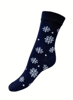 Art. 8 Klasické dámske PRAVÉ VALAŠSKÉ ponožky Modrotlač Vločka Knebl Hosiery