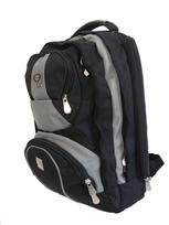 BOS 3267  batoh školský aj na notebook black-grey