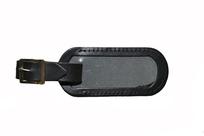 Menovka na kufor kožená čierna