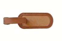 Menovka na kufor kožená svetlo hnedá