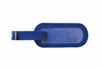 Menovka na kufor kožená modrá